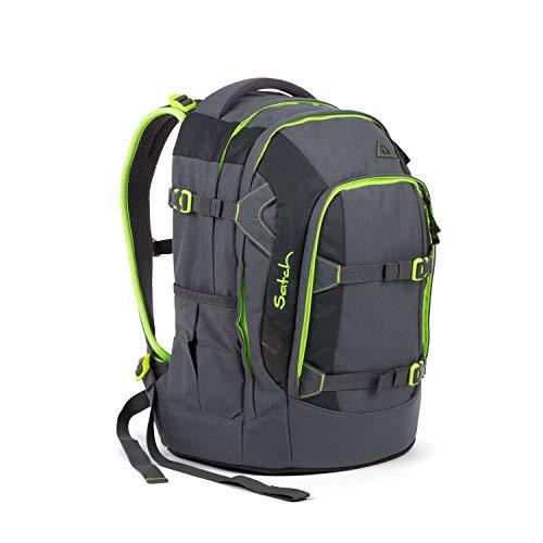 Satch Pack Phantom, ergonomischer Schulrucksack, 30 Liter, Organisationstalent, Grau/Grün -