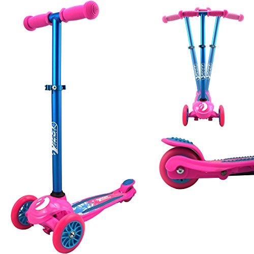 Best Sporting 3-Wheel 121 Scooter, Kinder-Roller mit 3 Rädern, Tretroller, Farbe: pink/blau