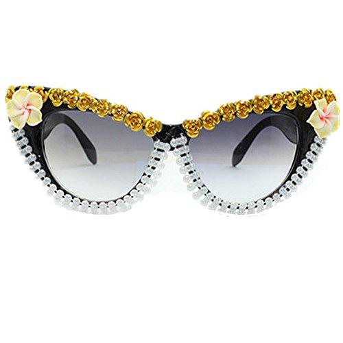 Easy Go Shopping Gafas Sol Hechas Mano Oro Rosa Flor