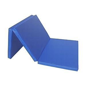 Weichbodenmatte Klappmatte 3 x klappbar Blau, Rot, Gelb