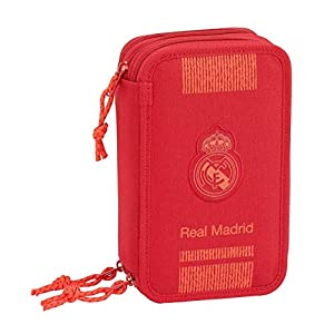 Real Madrid Estuches Unisex Adulto Plumier Triple 41 Piezas Red 3′ 3 equipacion 18/19 411957-057, Multicolor, Talla única