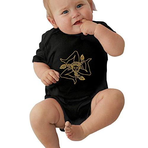 Babybekleidung Jungen Mädchen T-Shirts, Flag of Sicily