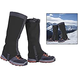 Itian Polainas Impermeable - para Excursionismo Alpinismo Acampada, outdoor, pesca, investigación, recorta hierba, caza(Negro)