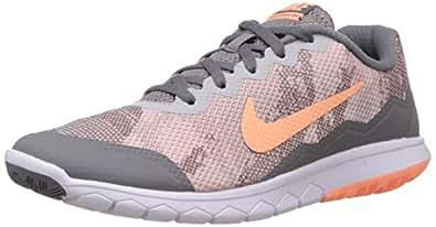 Nike Women's Flex Experience Rn 4 Prem Cool Grey,Sunset Glow,Pure Platinum,White  Running Shoes - 5 UK/India (38 EU)(5.5 US)