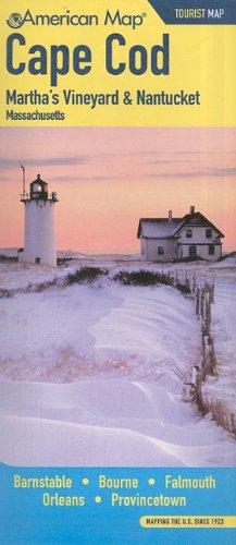 Cape Cod, Martha's Vineyard & Nantucket, Massachusetts (American Map)