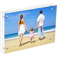 Marco de Fotos 10x15cm,Marco Foto en Cristal Personalizado (15+15 mm de espesor), Regalo de Cumpleaños y Vacaciones por NIUBEE