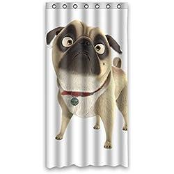 "CARLINO goliton Doubee easiskins animales de poliéster cortina de ducha 91,44 cm x 182,88 cm, 90 cm x 183 cm, poliéster, E, 36"" x 72"""