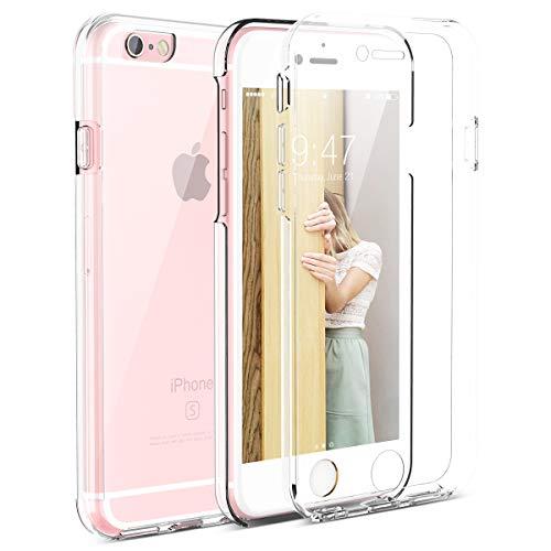 CE-Link Kompatibel mit iPhone 6 Hülle iPhone 6s Hülle 360 Grad Crystal Clear Transparent Hüllen mit Integriertem Displayschutz Silikon und PC Handyhülle Schutzhülle für iPhone 6 / 6s Durchsichtige