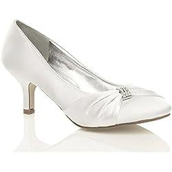 Zapatos de salón de Boda - tacón bajo- Colores a elegir
