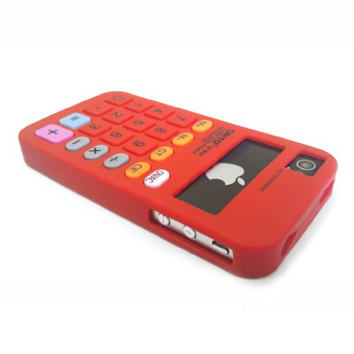 Geekgoodies Silicon Calculator Case For Apple iPhone 4 / 4s (Red)