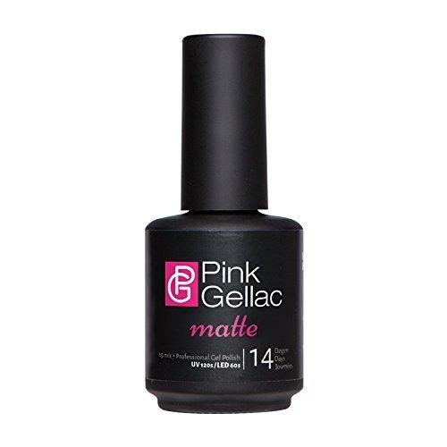 Pink Gellac MATTE Gel Top Coat UV / LED (15ml / 0.5 fl oz) by Pink Gellac