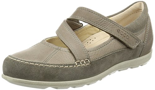 Ecco ECCO CAYLA, Damen Mary Jane Halbschuhe, Beige (WARM GREY/MOON ROCK55634), 42 EU (8 Damen UK)