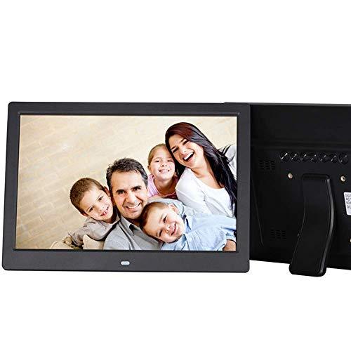 SMDFDN 12 Zoll Digitaler Fotorahmen 720P Video Musik Kalender Clock Player 1280X800 Auflösung Unterstützung SD TF Karte