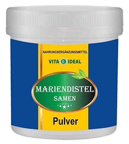 Mariendistel Samen Pulver 300g (Silybum marianum, Milk thistle) + Messlöffel