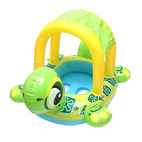 Parkomm Baby-Schwimmring, Baby-Poolsitz, aufblasbares Baby-Pool-Schwimmboot-Schildkröten-Swimmingpool-Spielzeug für Baby-Kleinkinder, die Sicherheitswasserspielzeug Schwimmen