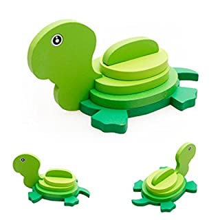 Wooden Jigsaw Toy,JoyJay Montessori Mini 3D Puzzle Kids Educational Funny Toy Wooden Colorful Jigsaw Gift (K)