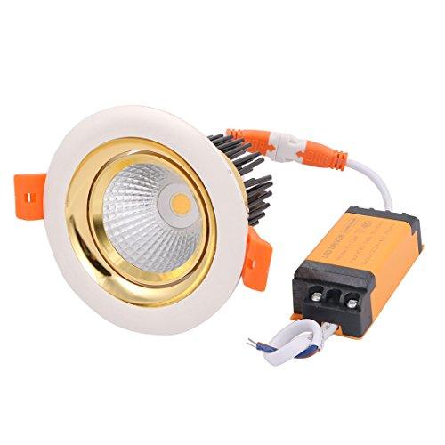 sourcing map AC85-240V 10W Lampe projecteur Plafond COB encastré Downlight LED Driver 3000K