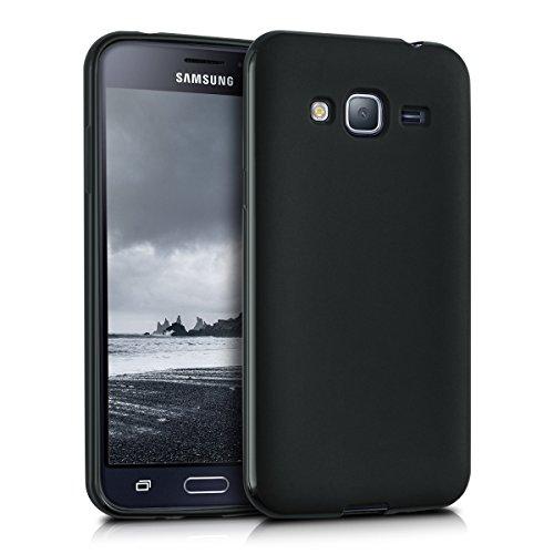 kwmobile Hülle für Samsung Galaxy J3 (2016) DUOS - TPU Silikon Backcover Case Handy Schutzhülle - Cover Schwarz matt