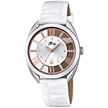 Reloj Cuarzo Lotus para Mujer con Plata Y Blanco Cuero 18224 1 7832a7c22156