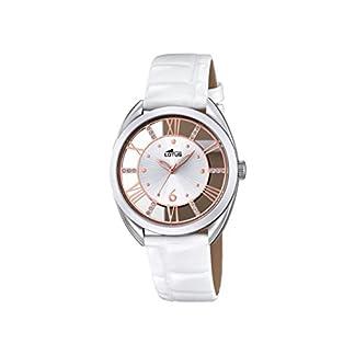 Reloj Cuarzo Lotus para Mujer con Plata Y Blanco Cuero 18224/1