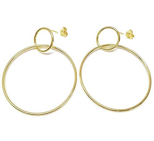 Linea Italia gioielli - Cerchi in argento 925 dorato - Orecchini donna Made in Italy