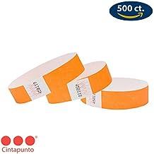 Cintapunto® - Tyvek Pulseras 500 Unidades 1,9 Centimeters, Pulseras Para Eventos 500
