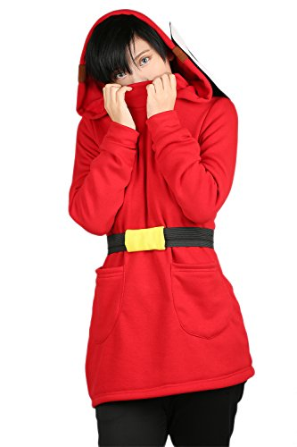 llover Shy Guy Kapuzenpullover Warm Sweatshirt aus Baumwolle Fancy Dress Accessories Sport Anime Hoodie Cosplay Zubehör ()