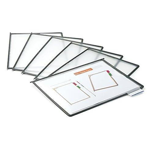 Master of Boards® 10x Individual Document Holder Display Panels with Index Tabs | Anti-Glare Matt Finish