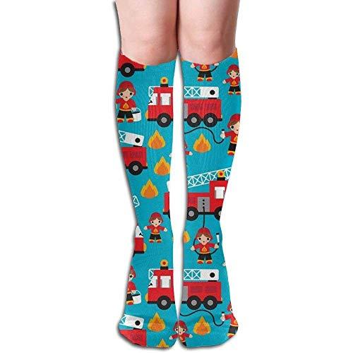 55e0d08ae959 Juziwen Long Socks Fire Truck and Hero Boys Car Compression Socks for Men &  Women Fashion
