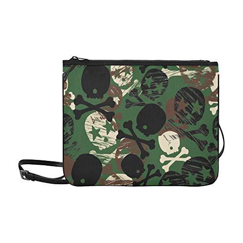 rende Muster Muster Benutzerdefinierte hochwertige Nylon Slim Clutch Crossbody Tasche Umhängetasche ()