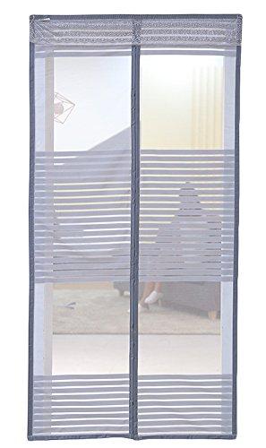 Liveinu zanzariera magnetica per porte finestre tenda zanzariera con magneti rete anti zanzare zanzariera grigio 140x240cm