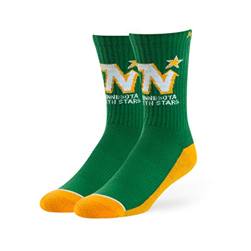 NHL Minnesota North Stars Male OTS Anthem Sport Socks, Kelly, Large -
