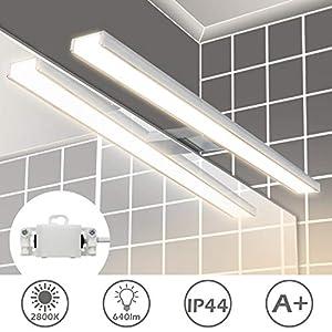 Wowatt Aplique de Espejo Baño LED 8w Lámpara de Espejo IP44 Impermeable Luz Espejo Baño 40cm 400mm Luz de Pared para…