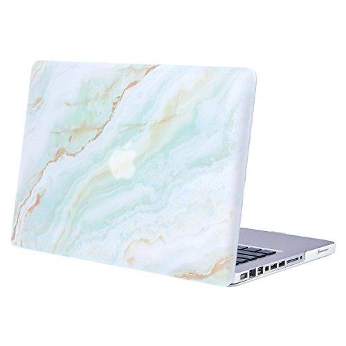 MOSISO Funda Dura para Old MacBook Pro 13 Pulgadas con CD-ROM A1278 (Versión 2012/2011/2010/2009/2008),Carcasa Rígida Protector de Plástico Cubierta, Mármol Verde Blanco