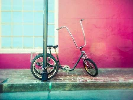 Lonely Trike - Fine Art Print on Fine Art Paper - PRINT ONLY -NO FRAME - 38 x 28 Inch