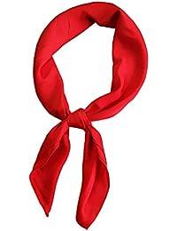 d0b0883d85a Femmes Satin Petit Carré de Couleur Unie Petit Cravat Echarpes Dames en  Soie Professionnelle Foulard Scarfs