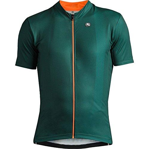 Fusion Radtrikot (Giordana SS18 Fusion Fahrradtrikot. Kurzarm -Dark Green with Orange Accents GICS18-SSJY-FUSI-GREN Gr.L)