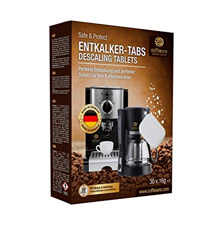 Coffeeano 30x Entkalkungstabletten für Kaffeevollautomaten und Kaffeemaschinen. Enkalkungs-Tabs...