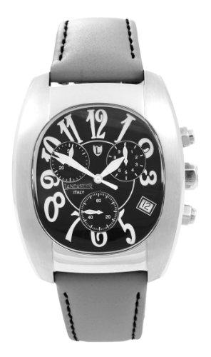Lancaster 0289-S-Grau - Reloj cronógrafo de cuarzo unisex con correa de piel, color gris