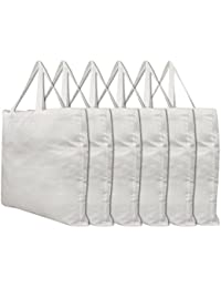 MARMITTE Set Of 6 Polyester-Viscose Reusable Shopping Grocery Multipurpose Tote Bag