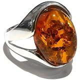 Goldmajor Ring Sterling Silber 925Cognac Bernstein Siegelring Stil