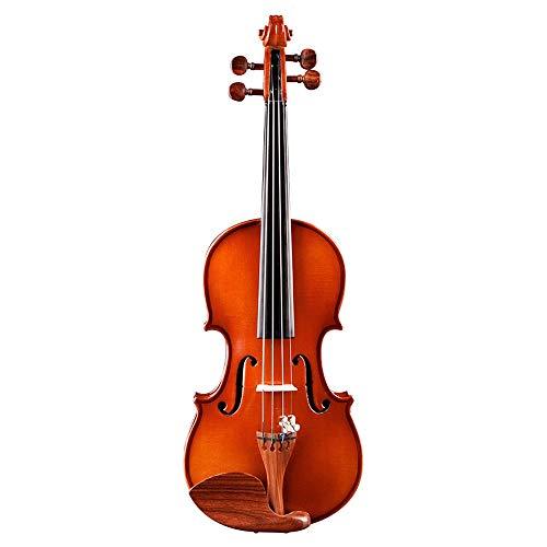 Miiliedy 1/16 violino fatto a mano per bambini strumenti musicali principiante ragazza ragazzo studente fondazione pratica violino con violino scatola arco colofonia corde extra mento resto