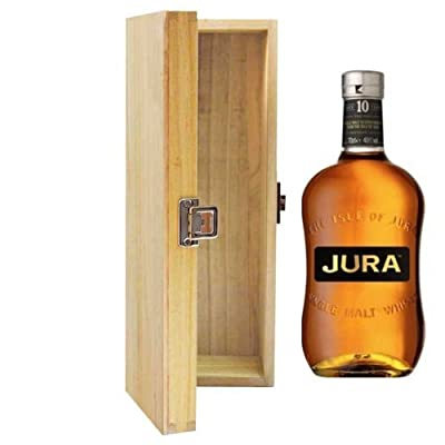 700ml The Isle Of Jura 10 YO Whisky in Hinged Wooden Gift Box