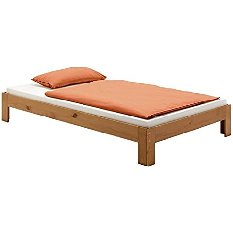 Lit futon lit simple THOMAS 120 x 200 cm pin