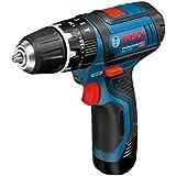 Bosch GSB 12V -15 LI - Taladro (Ión de litio, 12V, 30 min, 18.9 cm, 17.5 cm, 1 kg) Negro, Azul, Rojo