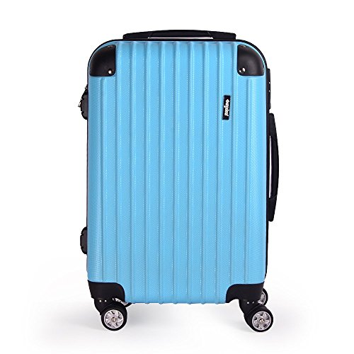 "Sunydeal - Maleta Rígida Equipaje Grande, Candado TSA , 28"", 47.5 x 28.5 x 71cm, 4 Ruedas multidireccional,Azul claro"