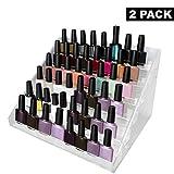 Organizador de esmalte uñas 6 niveles (Pack de 2) con tornillos plástico...