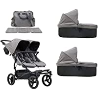 Mountain Buggy duet buggy V3 Luxury Collection - Carrito de bebé de dos plazas con bolso