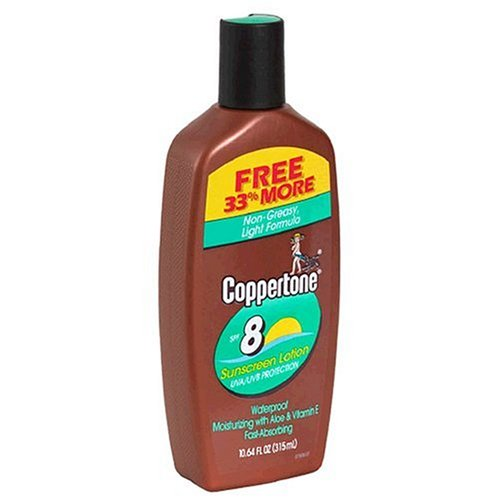 Coppertone Sunscreen Lotion, SPF 8 (8 fl oz) by Coppertone -