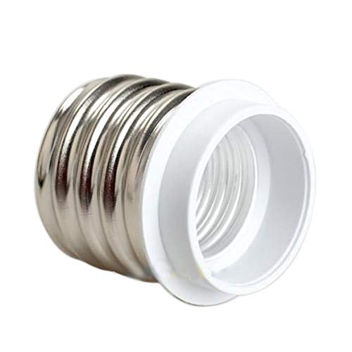 Dicomi LED Umwandlungs Lampenkopf (E40 bis E27) für Haus Industrie Trennwand Hotel Bar Silber